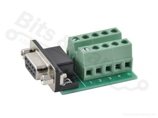 Schroefterminal voor DB9 RS232 connector female