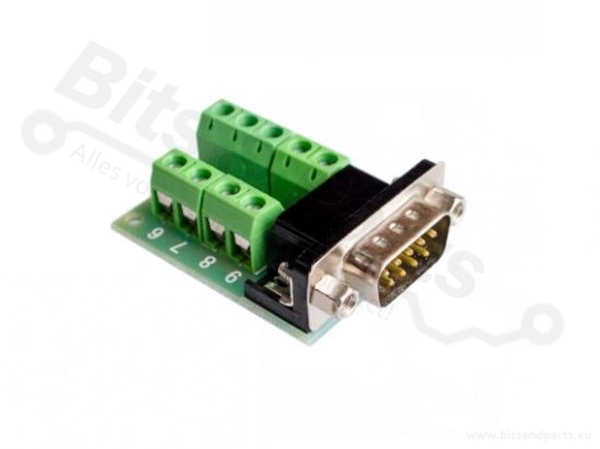 Schroefterminal voor DB9 RS232 connector male