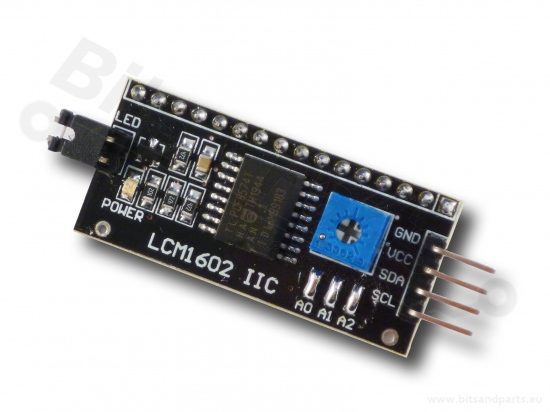 I2C interface voor 16x2 / 20x4 LCD display
