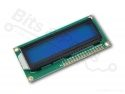 Display LCD HD44780 - 16x2 wit op blauw