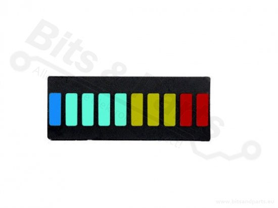 LED Balk 10 segments multi-color (VU-meter)