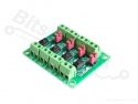 Optocoupler board PC817 4-kanaals