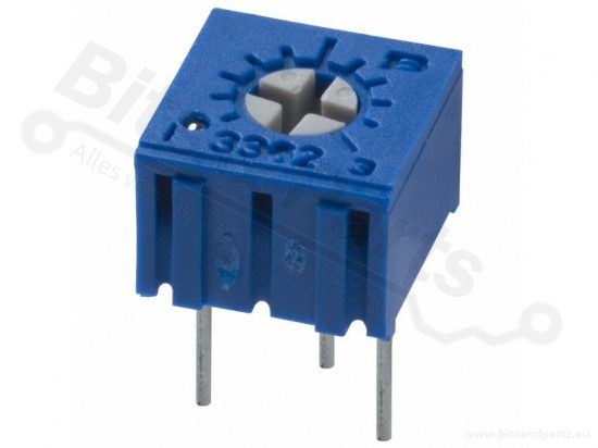 Weerstand regelbaar / trimmer potentiometer type 3362P 1K Ohm