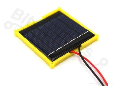 Zonnecel/zonnepaneel/solarcell 3V 100mA in behuizing