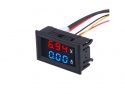 Digitale voltmeter + amperemeter met display 100V / 10A