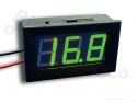 Digitale voltmeter met display groen 3,2-30,0V