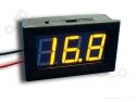 Digitale voltmeter met display geel 3,2-30,0V