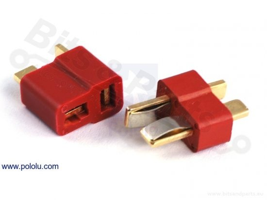 Voedingsconnector T-connector Deans 65A 2pins Rood