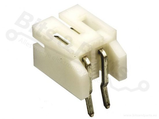 Box header JST PH 2-pin male connector 2mm haaks