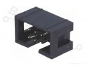 Box header 6-pin male Molex gouden pins breed