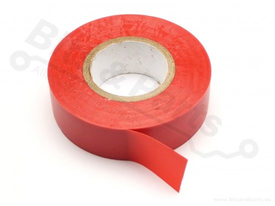 Isolatietape PVC 10mx19mm rood