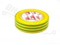 Isolatietape PVC 10mx15mm groen/geel