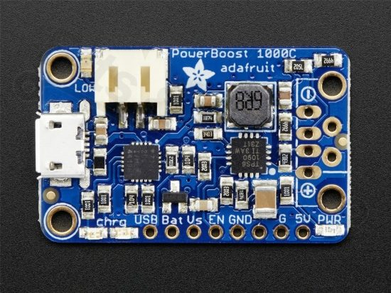 PowerBoost 1000C Charger - Rechargeable 5V Lipo USB Boost @ 1A - Adafruit